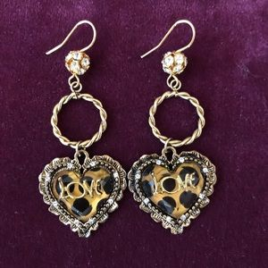 Betsey J LOVE earrings